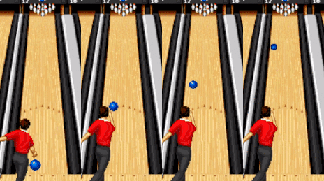 bowling ball rolling slices